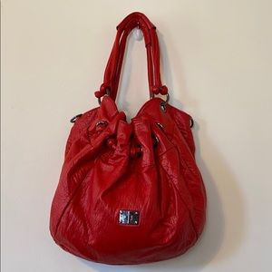 RED Kj hobo style shoulder bag in EXCELLENT COND.!